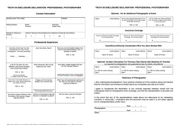 due diligence photographer interview form for brides
